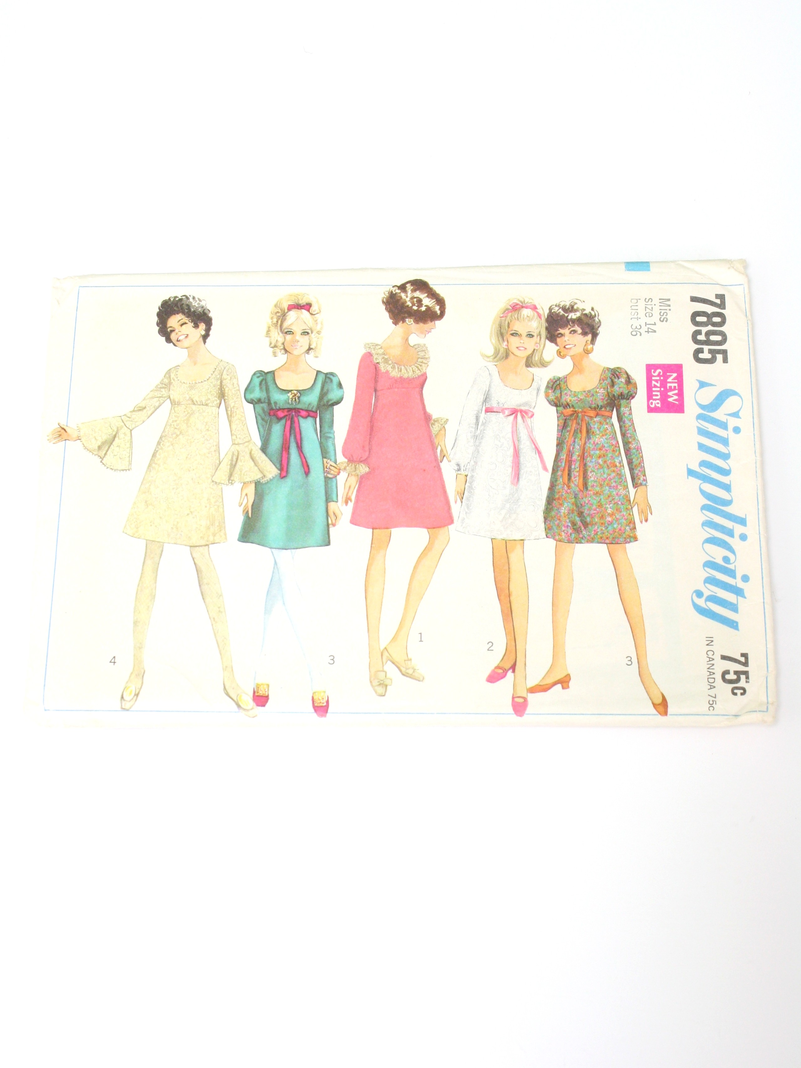 1960s Simplicity Pattern No. 7895 Sewing Pattern: 1968 -Simplicity ...