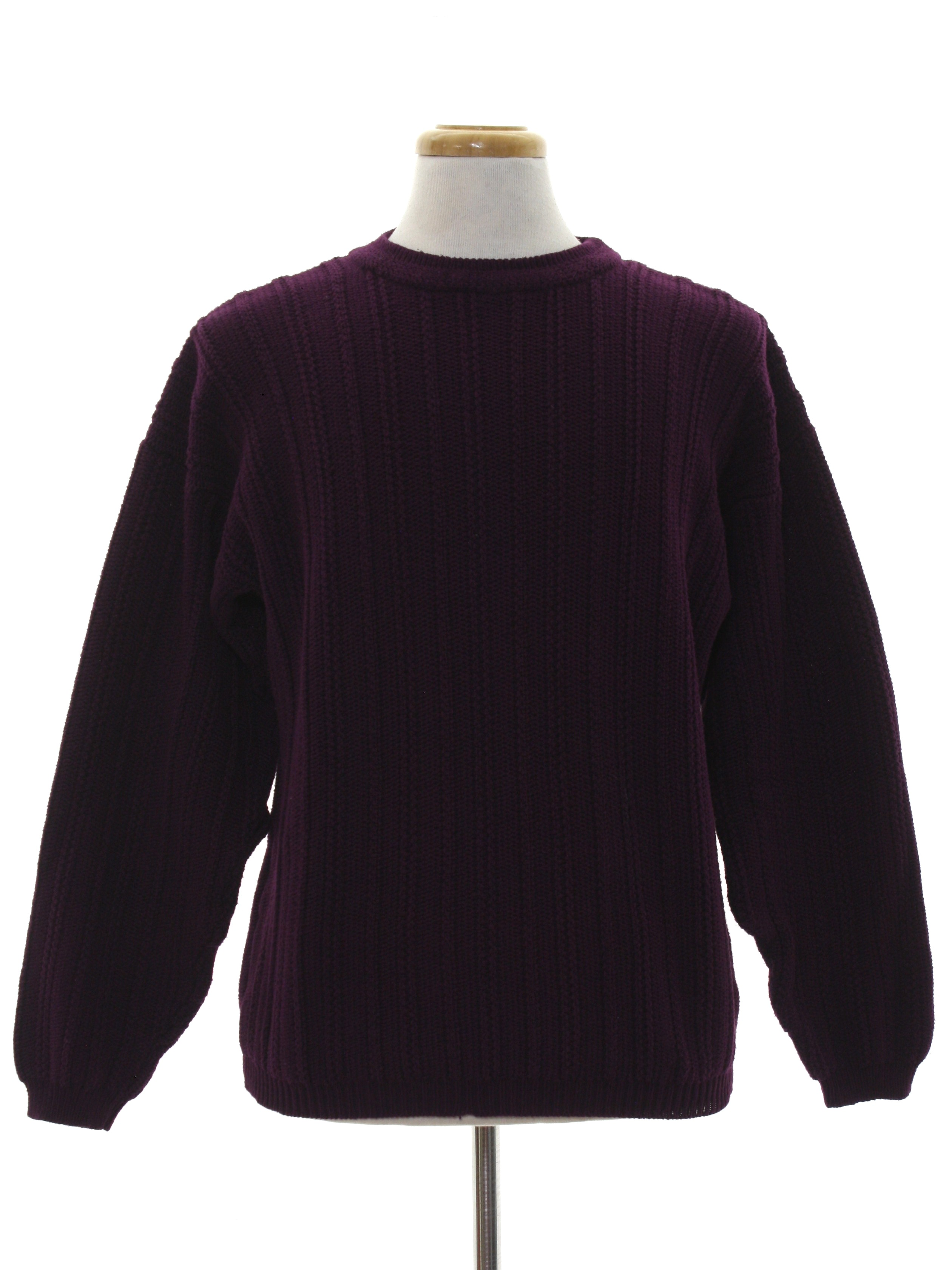 90s Vintage Eddie Bauer Sweater 90s Eddie Bauer Mens Dark Plum