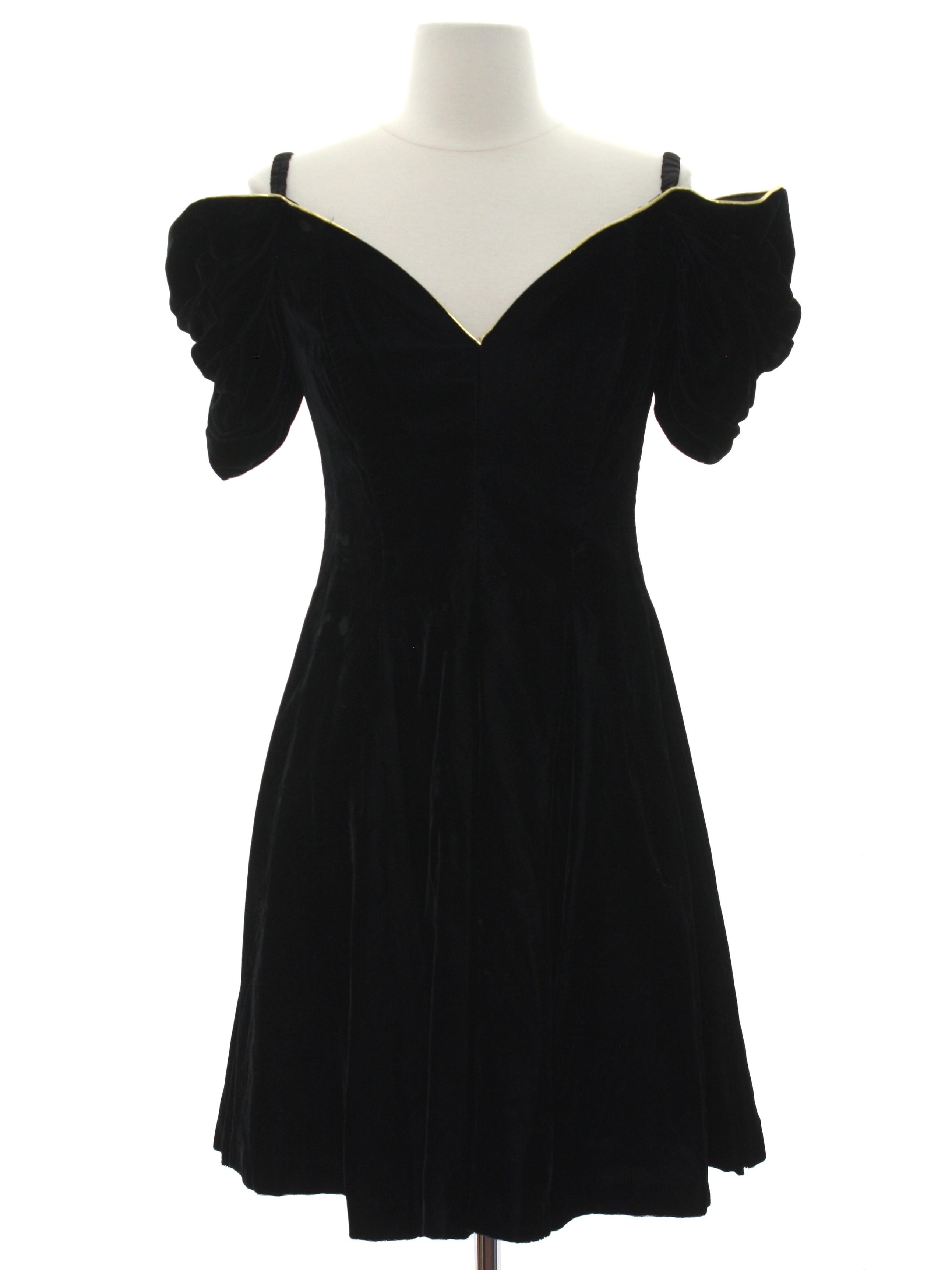 Retro 90\'s Cocktail Dress: 90s -Moda International- Womens black ...