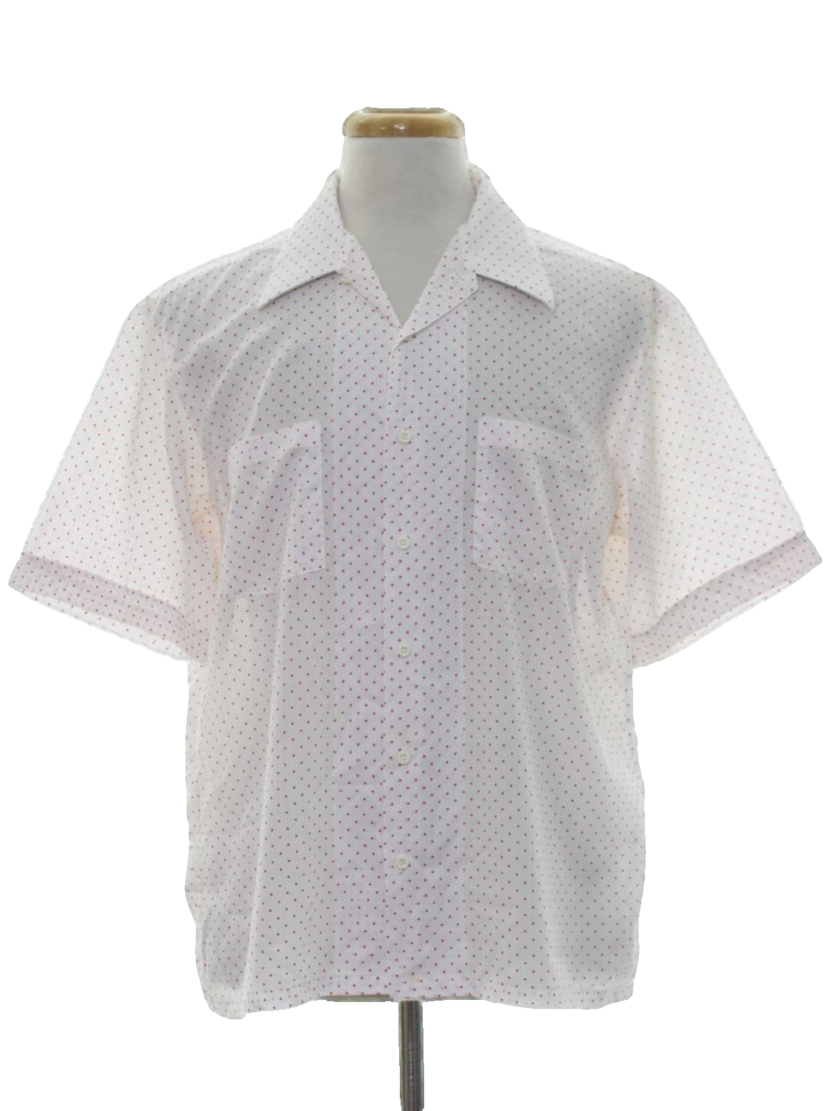 971a35d99 70s Vintage Diamonds Shirt  80s -Diamonds- Mens white and red rayon ...