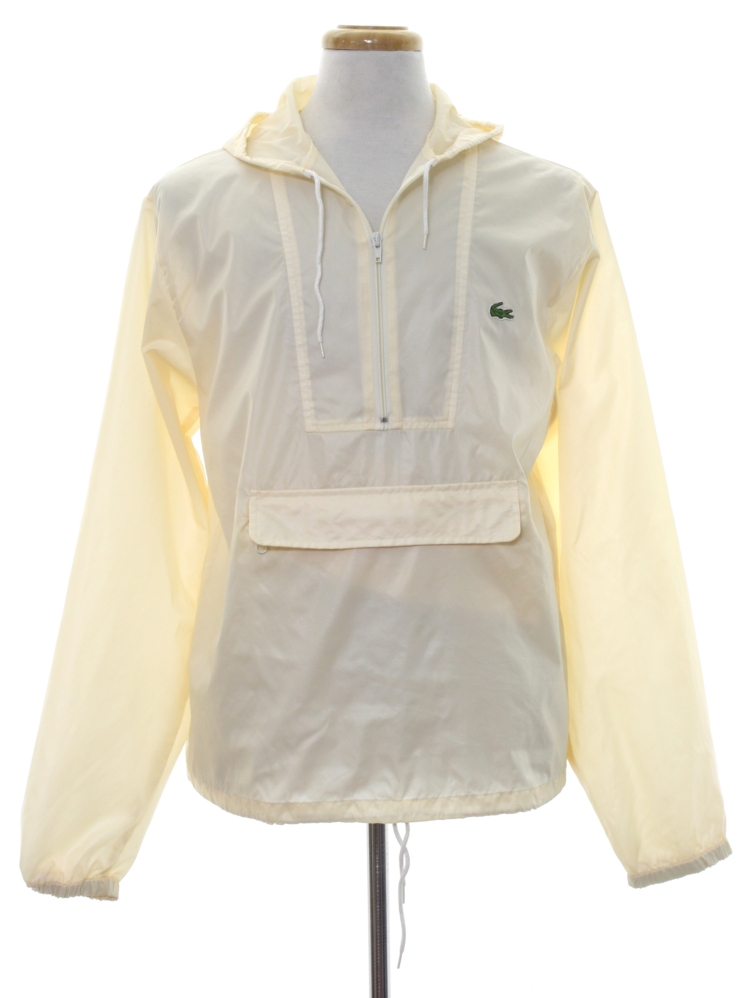 2961b5364e3c07 Izod lacoste eighties vintage jacket izod lacoste mens cream jpg 2506x3341 Lacoste  windbreaker jackets for men