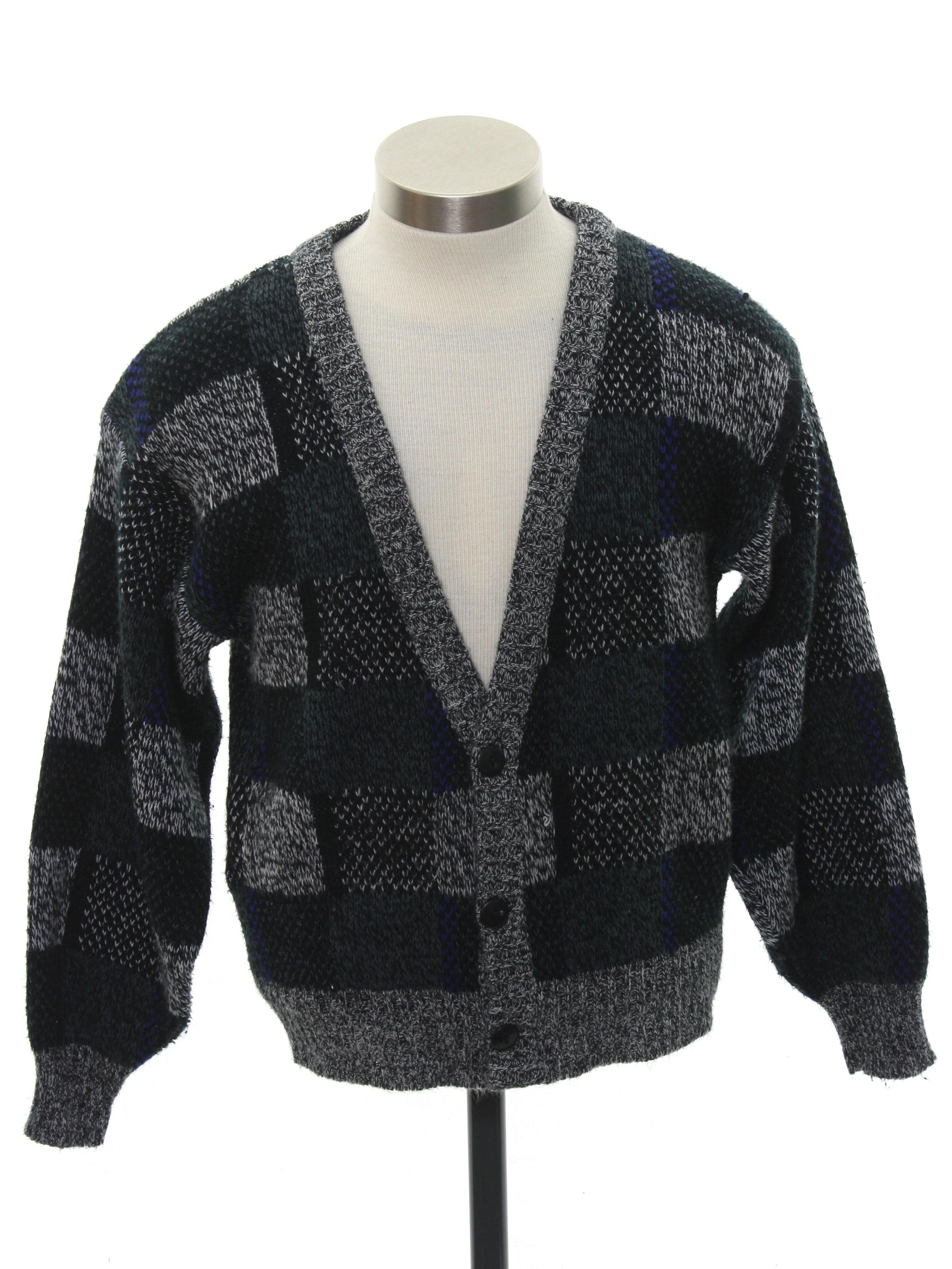 Vintage 1980 S Caridgan Sweater 80s Michael Gerald Mens