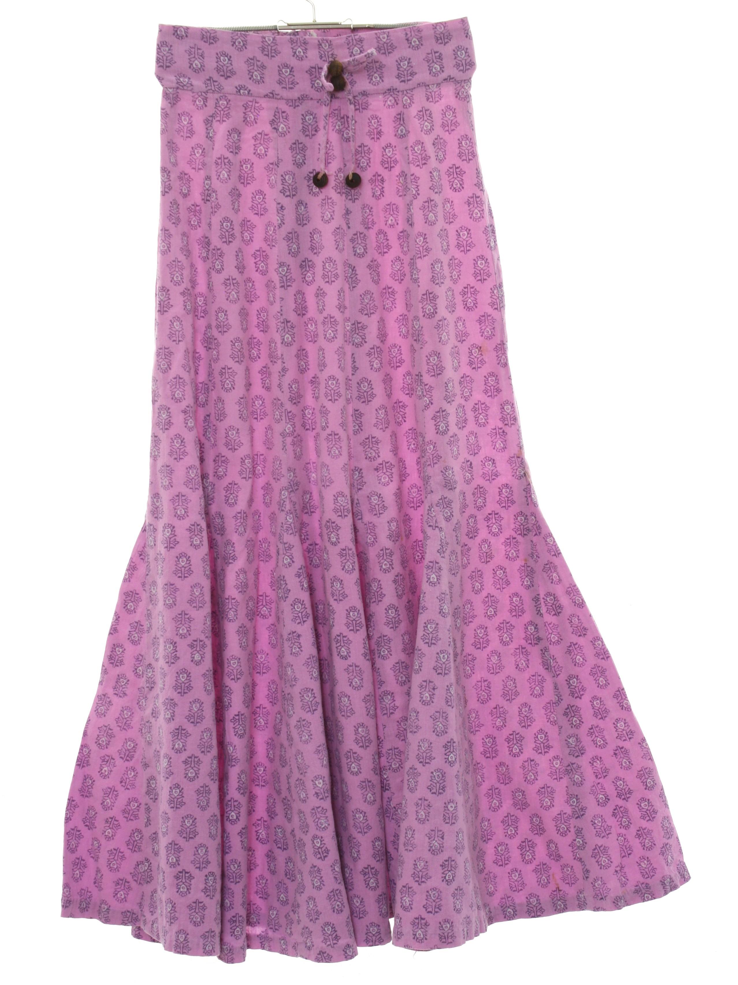 Retro 1980s Hippie Skirt India Imports 80s India Imports