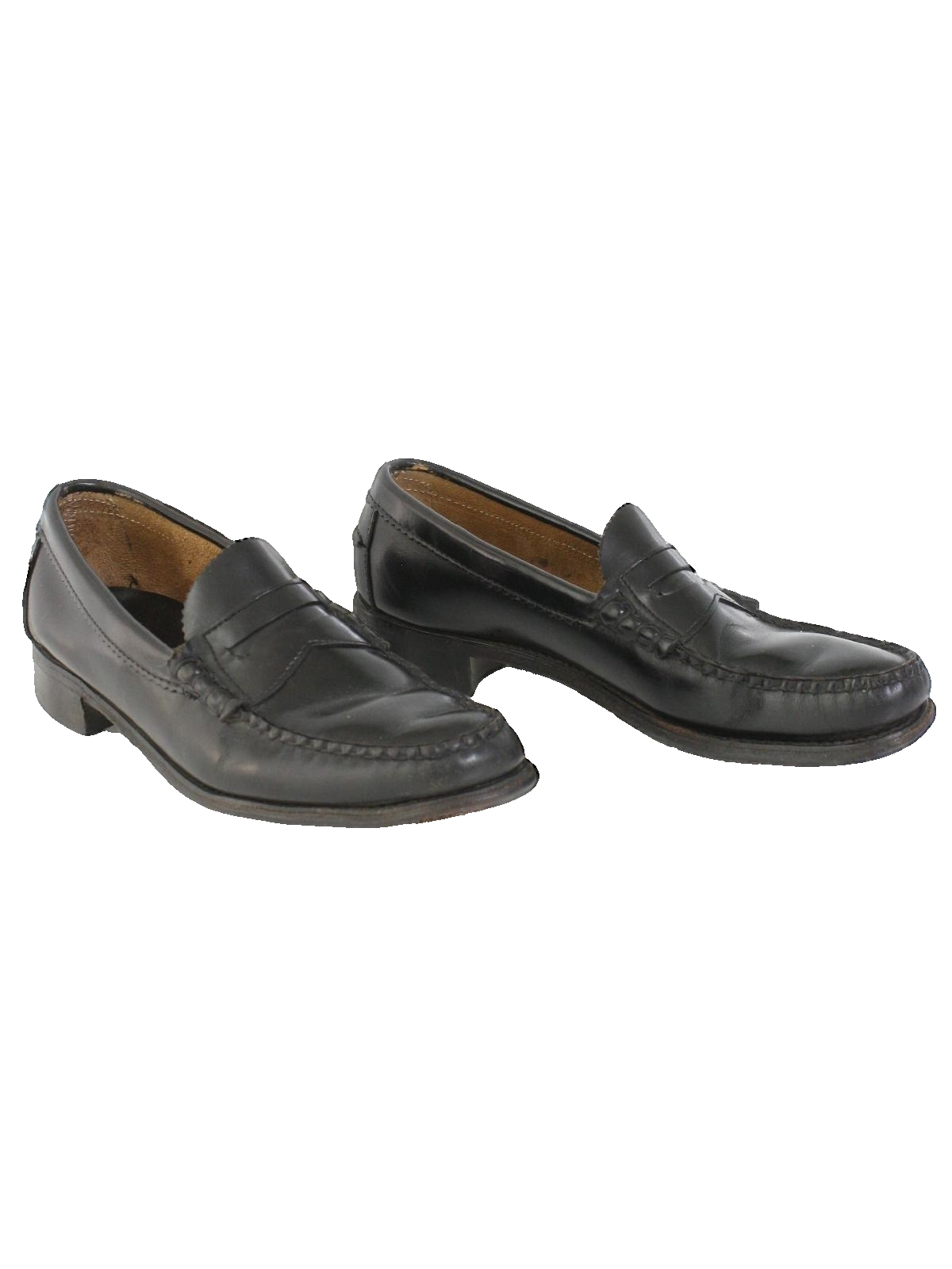 1980's Dexter Mens Leather Penny Loafer Shoes
