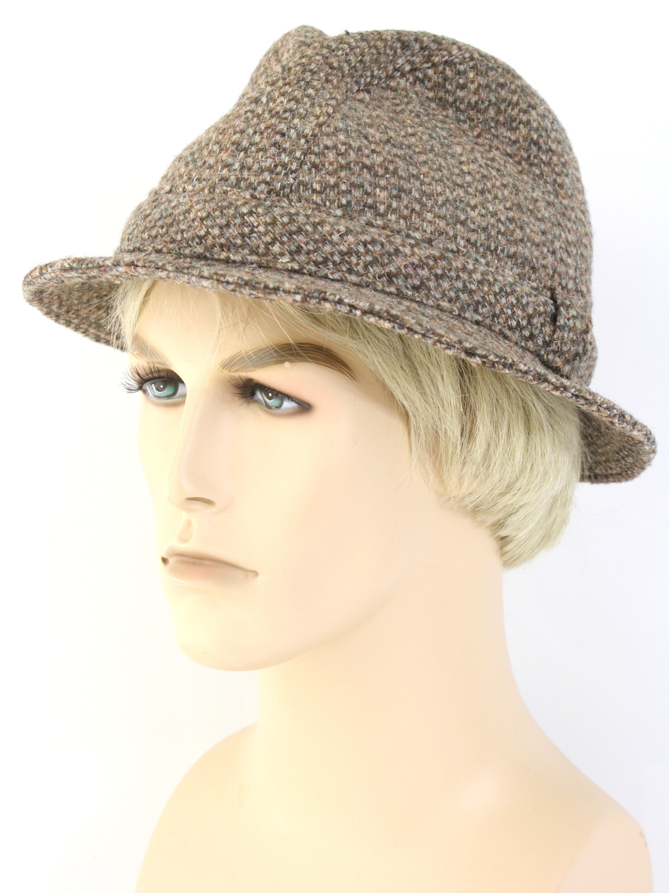1980 s Retro Hat  80s -Pendleton- Mens shades of brown 316ed789211