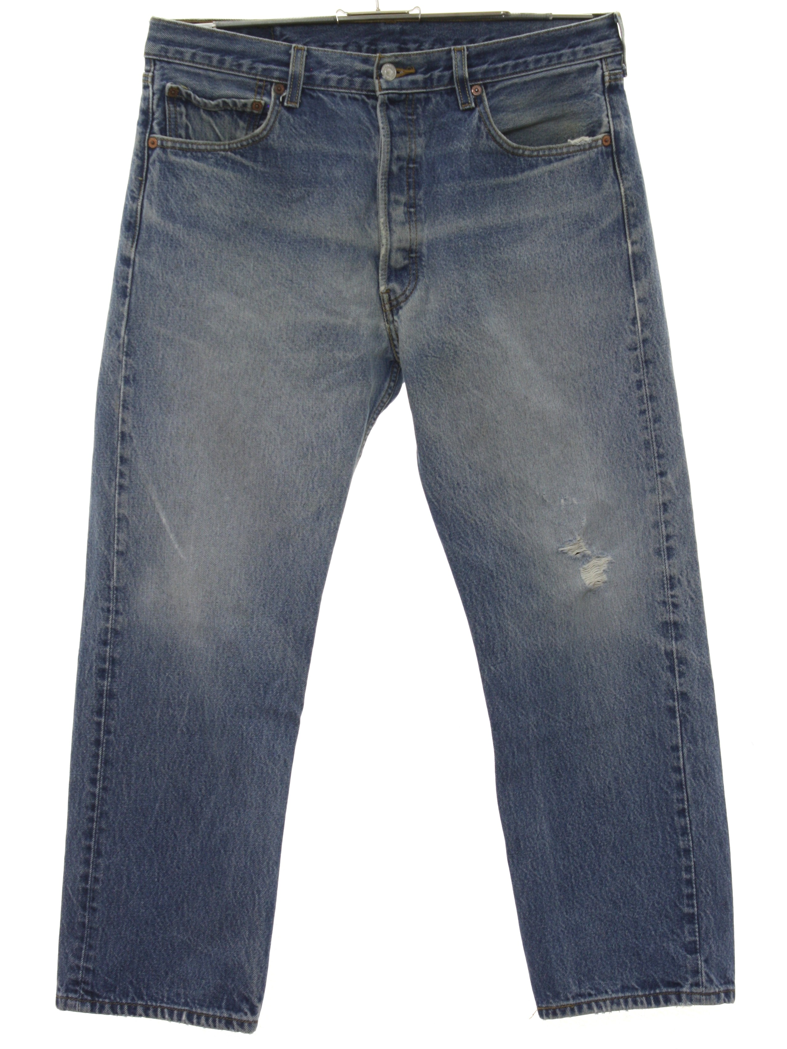 c876704df0e 1990's Vintage Levis Pants: 90s -Levis- 501- Mens heavily faded and ...