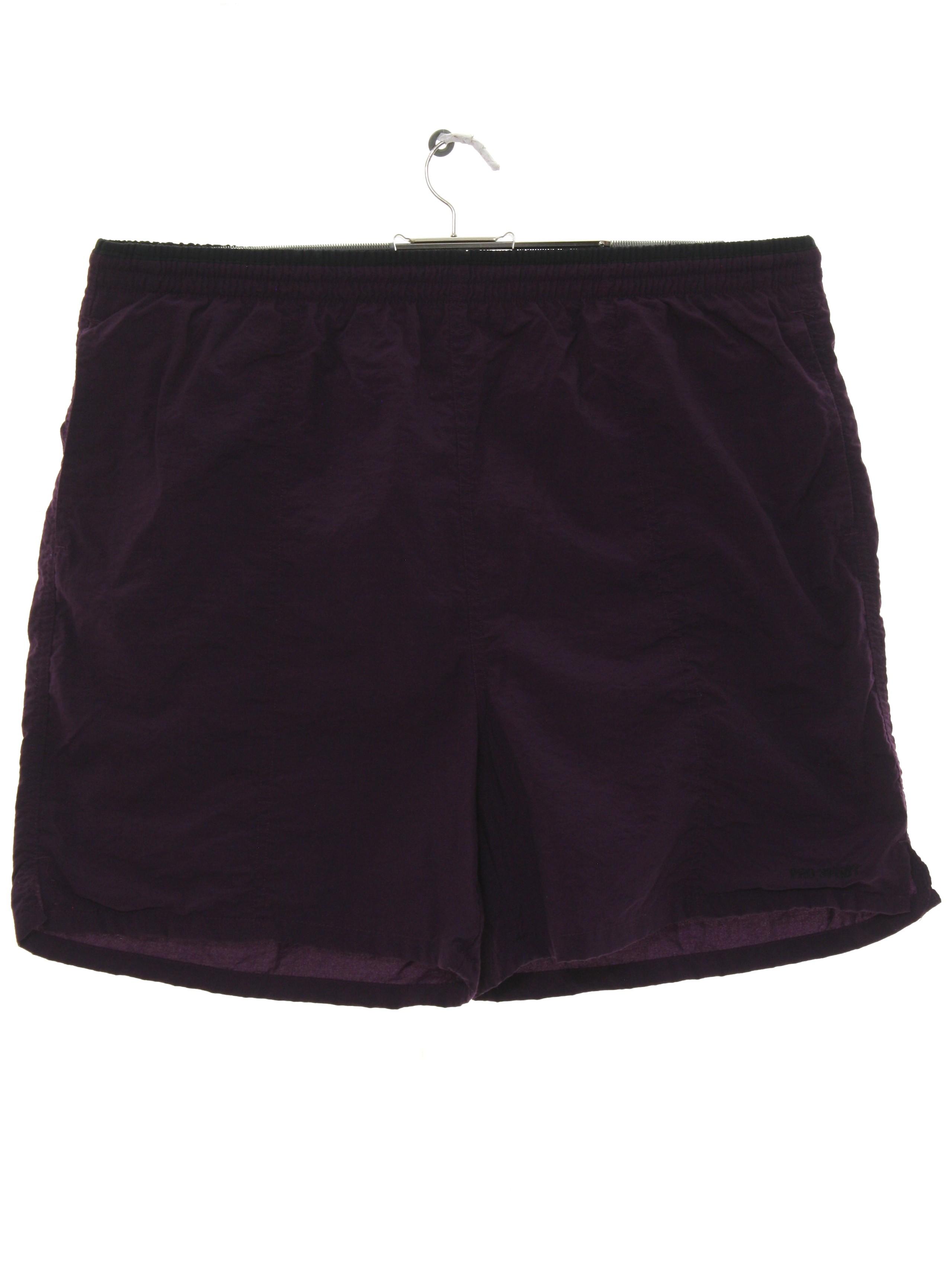 732a7de9d8 Retro 90's Swimsuit/Swimwear: 90s -Pro Spirit- Mens dark plum purple ...