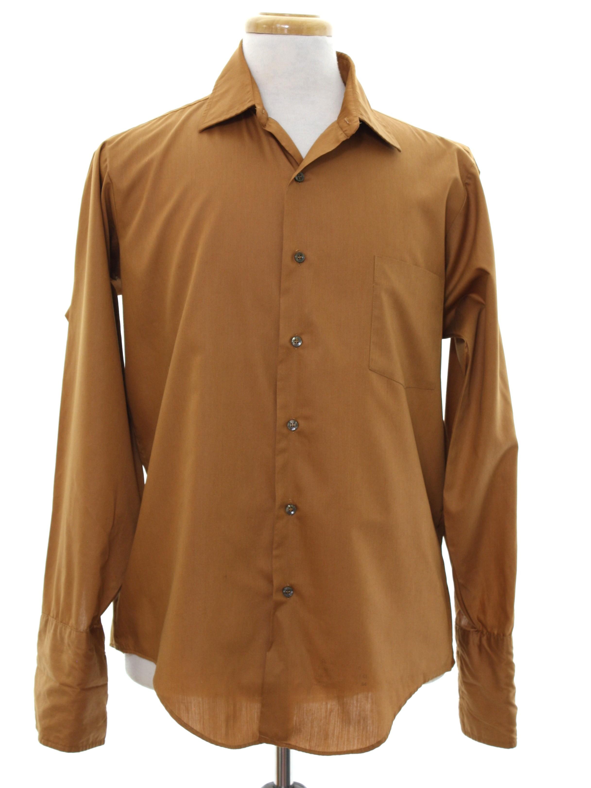 1960's Manhattan Custom Limited Mens Mod French Cuff Shirt