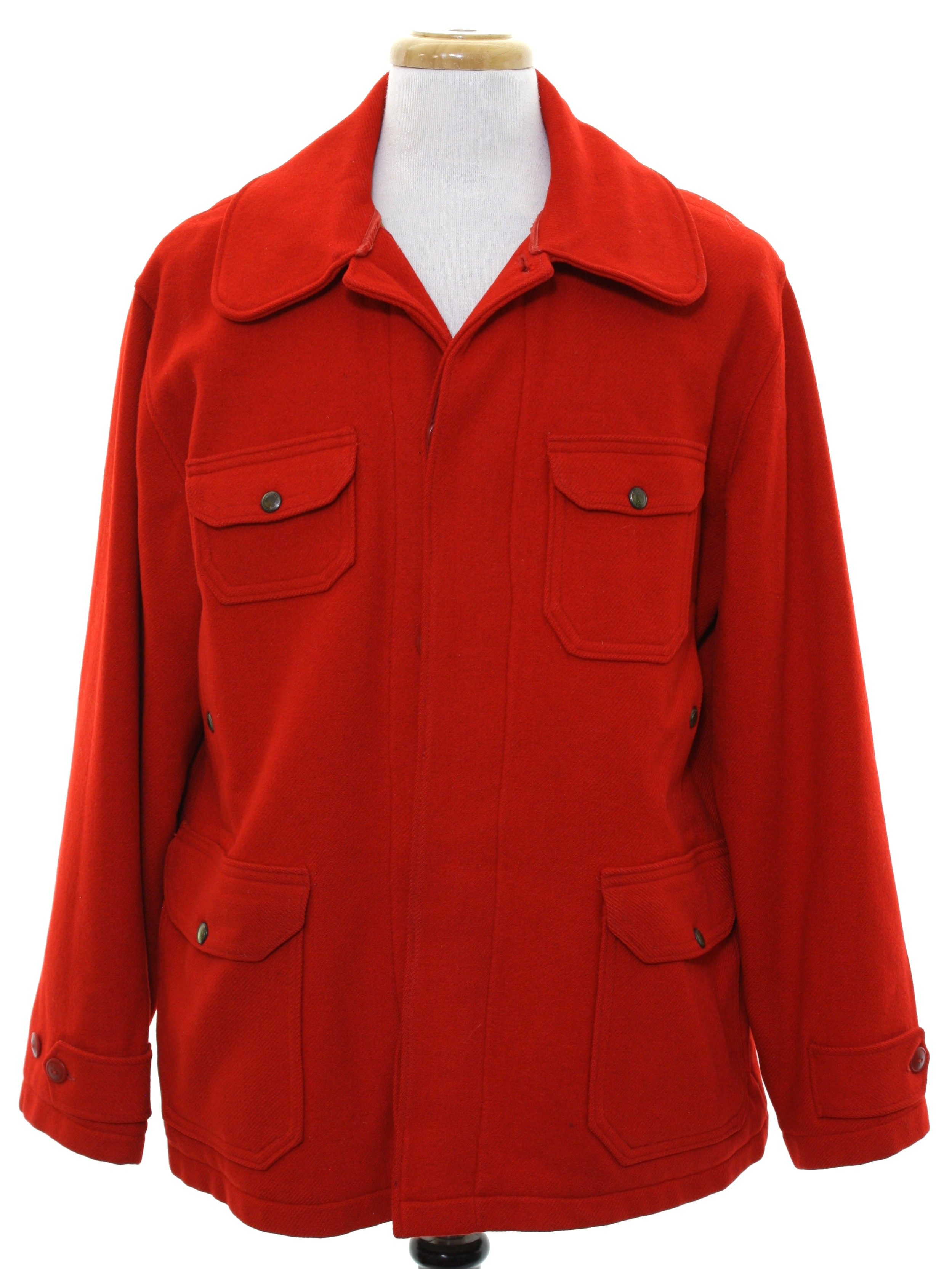 6cb00d5bd675d Vintage Woolrich 1950s Jacket: Early 50s -Woolrich- Mens red heavy ...
