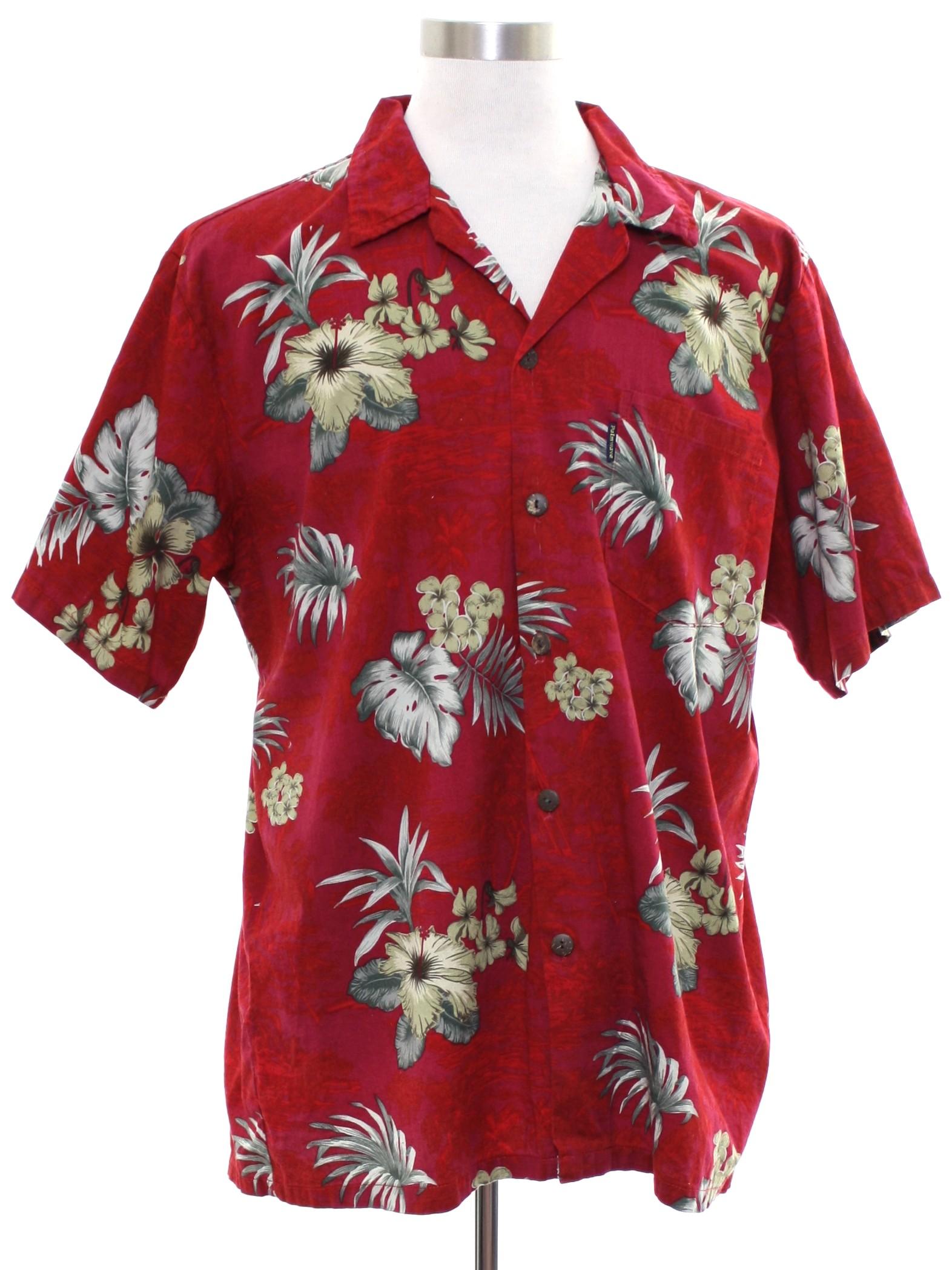 1946fd33 1980's Hawaiian Shirt (Palmwave Hawaii): Late 80s or Early 90s ...