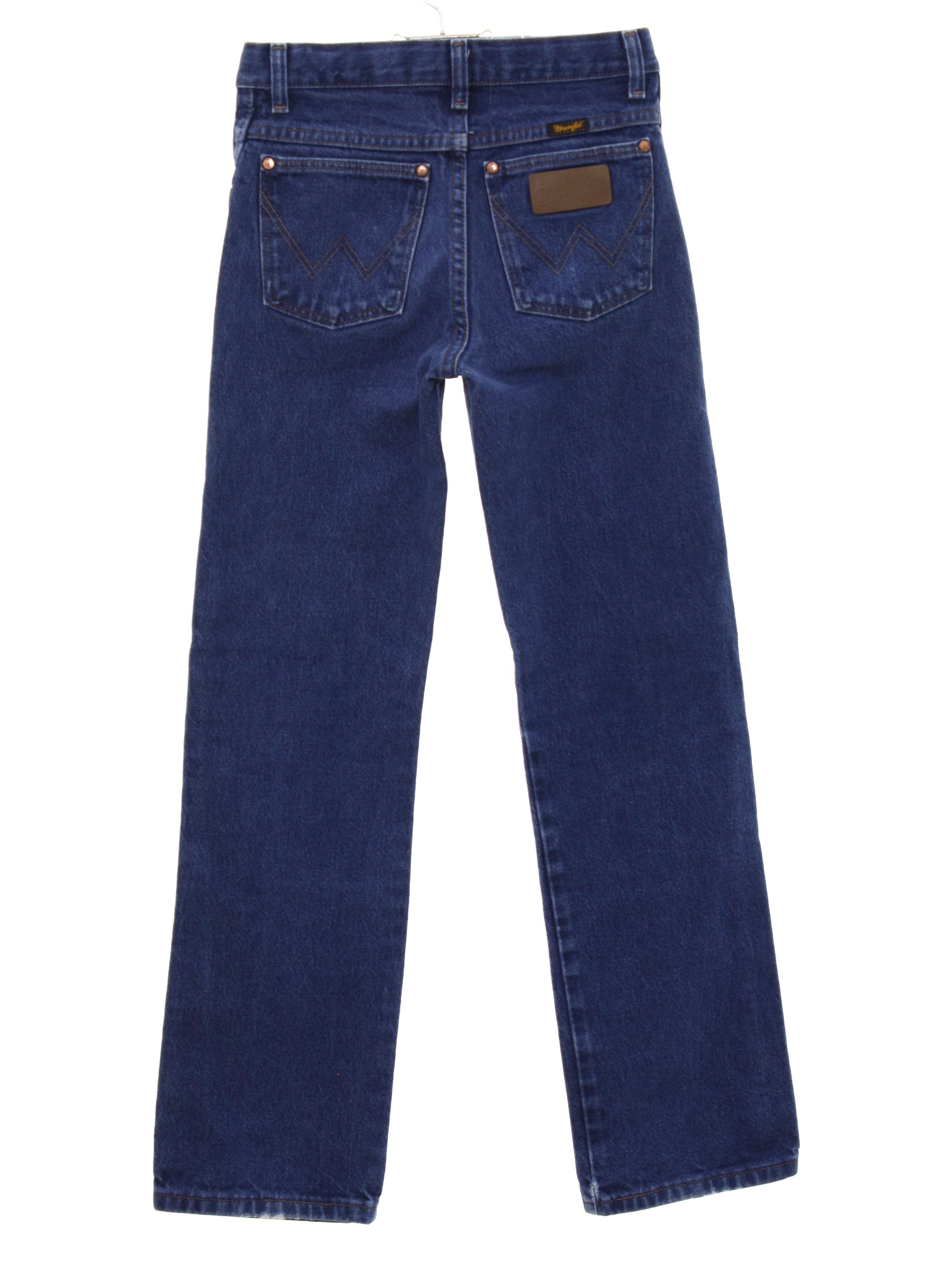 0ac0ad69 Wrangler 90's Vintage Pants: 90s -Wrangler- Womens/Girls dark blue ...