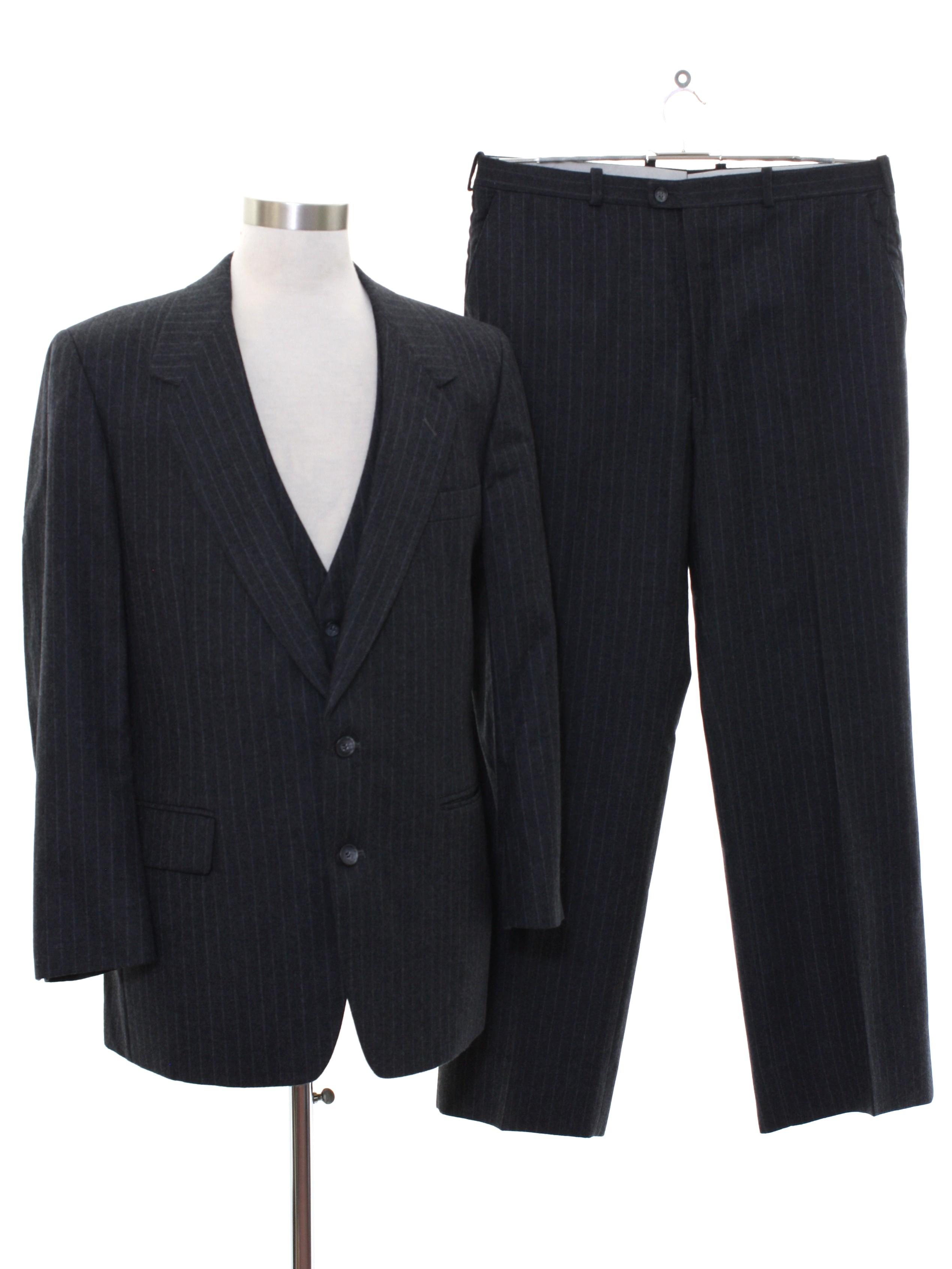 1980 S Vintage Dimitri Suit 80s Dimitri Mens Three