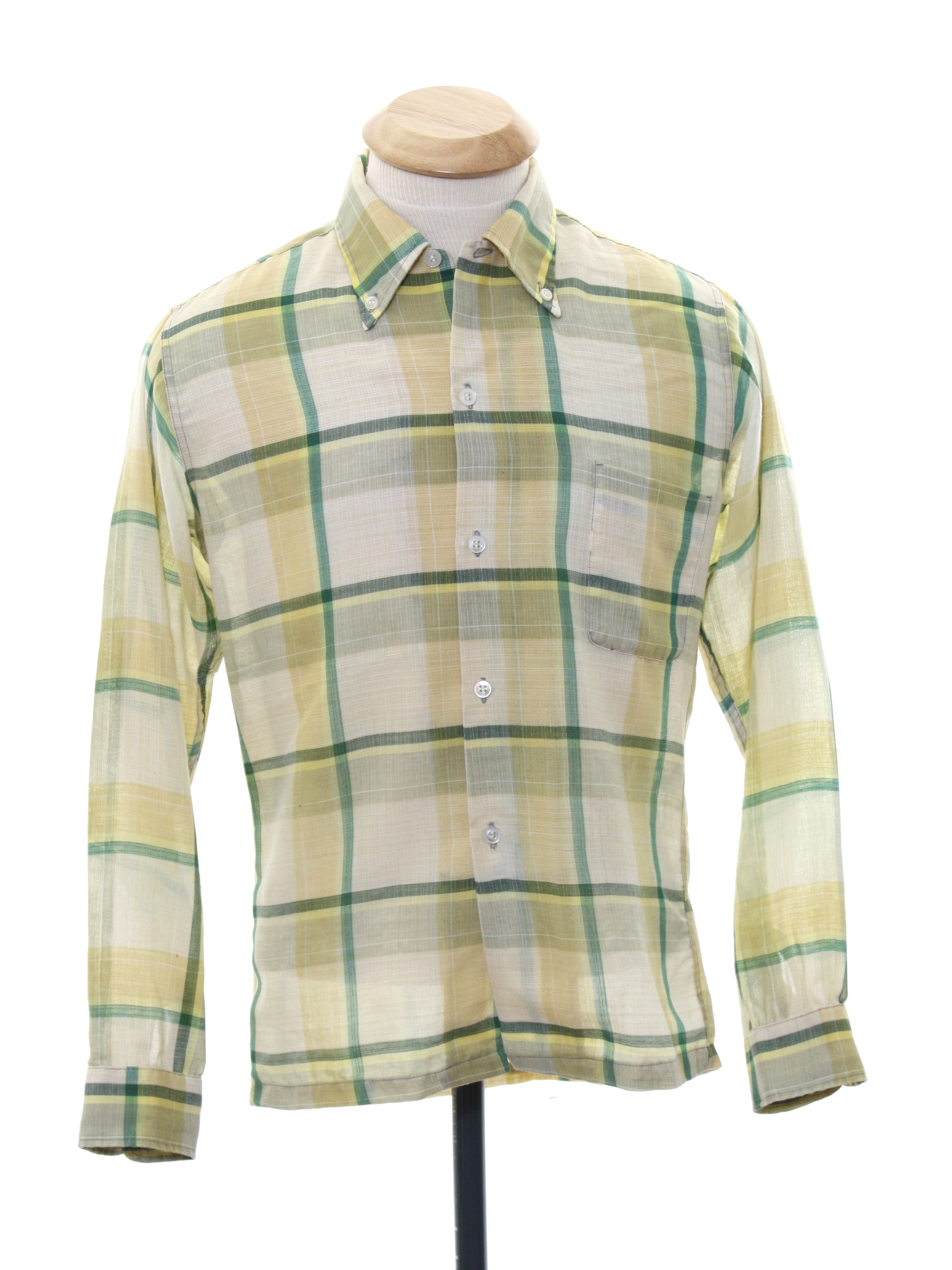 f54c631a1 Sixties Vintage Shirt: 60s -Towncraft- Boys off white background ...