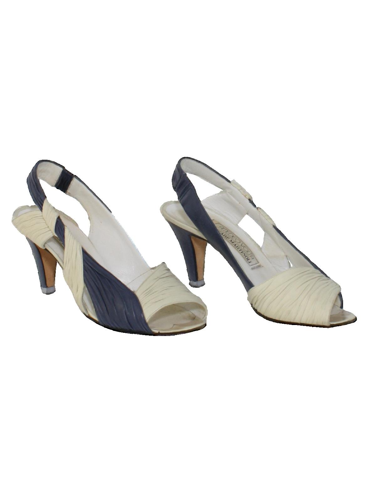 4f06b42d10552 1980's Cesare Martinoli Amedeo Volta Womens Designer Heels Shoes