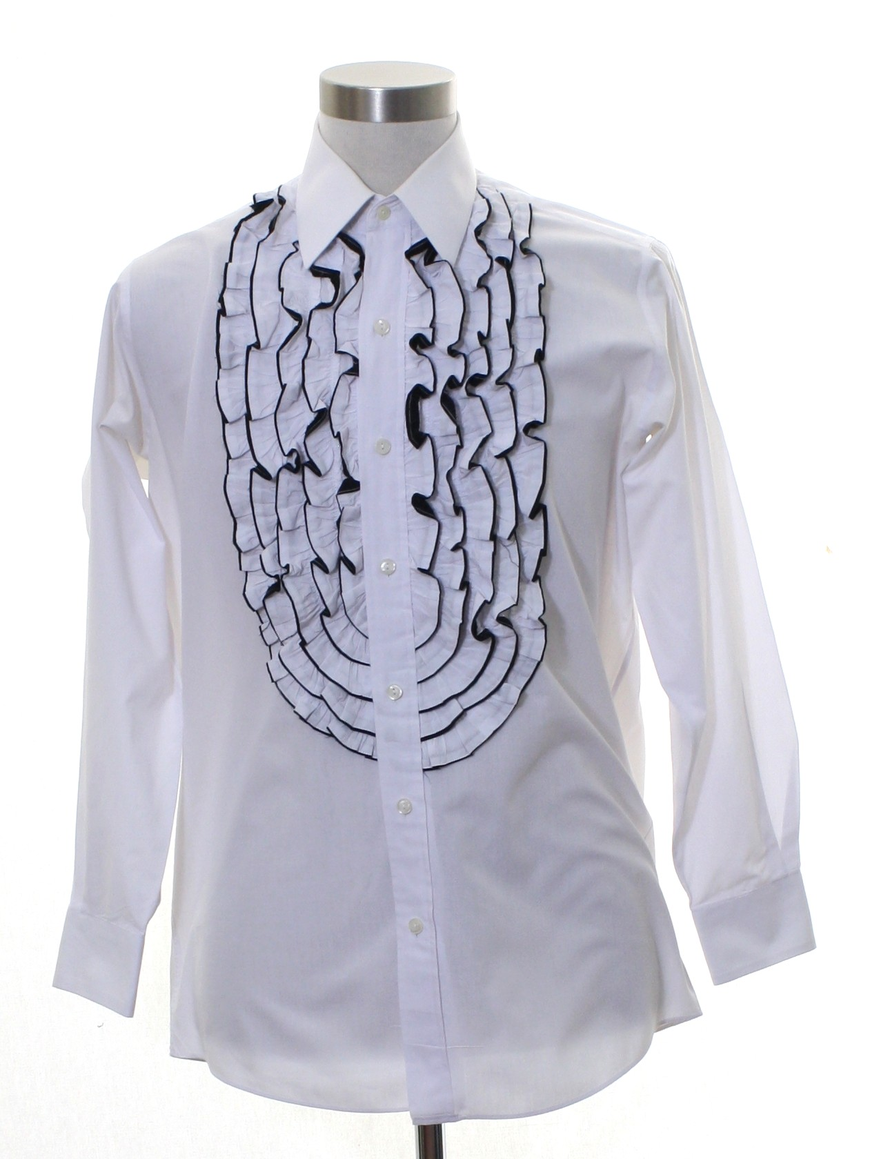 top-rated latest lowest discount 60% cheap 1970's Lims Shirts Custom Made Mens Ruffled Tuxedo Shirt