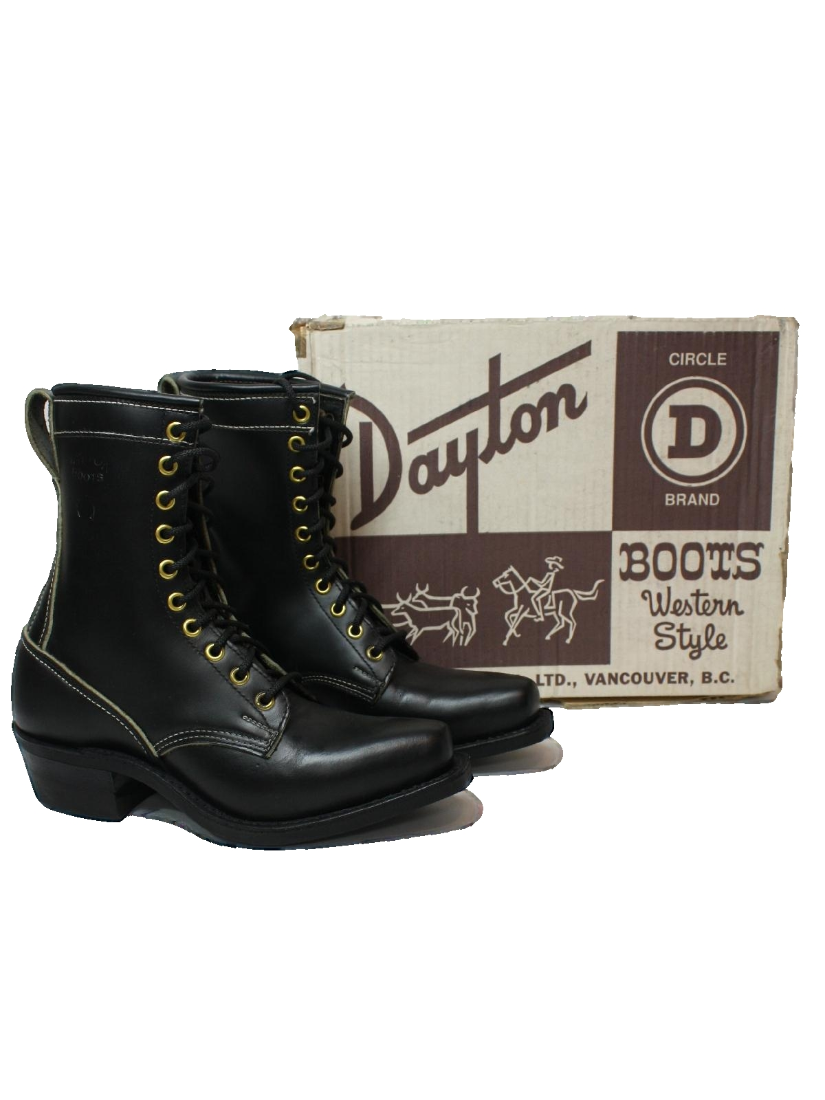 1980's Dayton Circle D Western Style Boots, Vancouver BC Womens Shoes