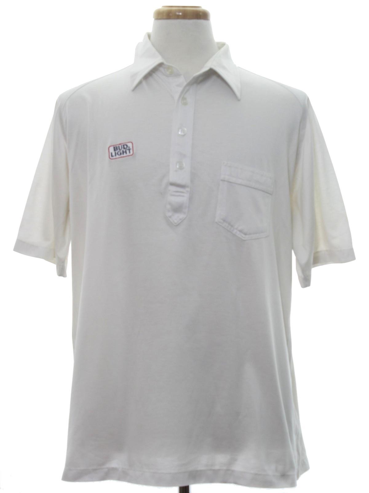 Retro Eighties Shirt 80s Sahara Mens White With Red And