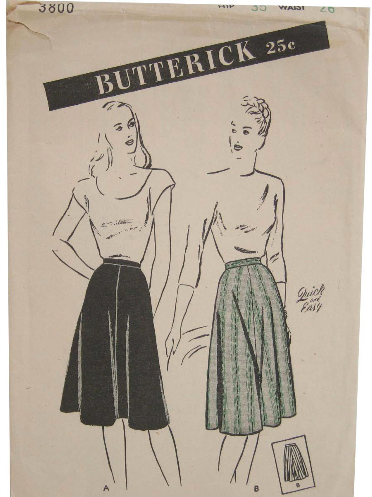 Vintage butterick pattern no3800 1930s sewing pattern 30s vintage butterick pattern no3800 1930s sewing pattern 30s butterick pattern no3800 womens graceful four gore circular cut skirt is quick and easy to jeuxipadfo Choice Image