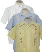 Mens 70s Guayabera & Mexican Wedding Shirts