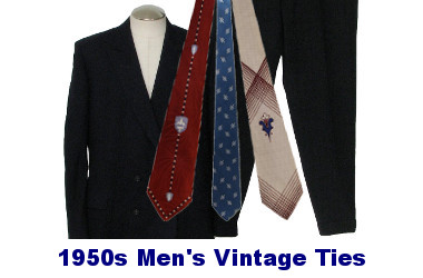 Men's 50s Vintage Neckties