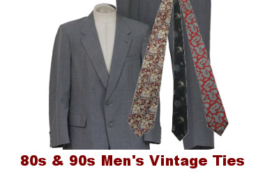 Mens 80s Vintage Neckties