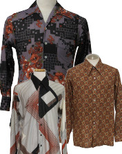 Men's Vintage Disco Print Shirts