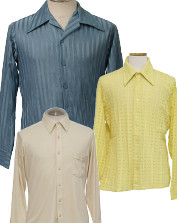 Men's Vintage Solid Disco Shirts