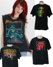 Mens Vintage Band Tees & Concert T-Shirts