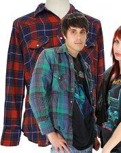 Grunge 90s Flannel Shirts