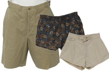 40s & 1950s Vintage Mens Shorts