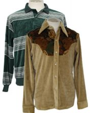 Vintage Mens Velour Shirts