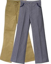Mens 70's Flared Pants