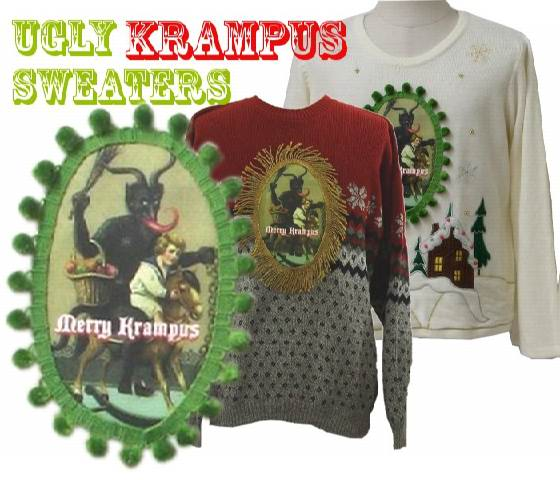Ugly Christmas Krampus Sweaters: Grüss von Krampus