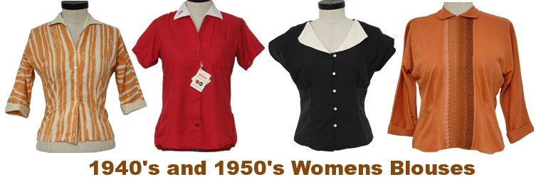 1940s & 1950s Vintage Womens Shirts