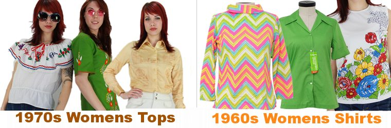 Womens Vintage Blouses form the 60s and 70s