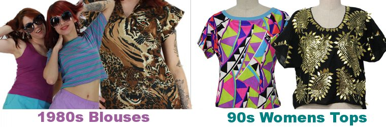 Womens 80s Blouses & Womens 90s tops