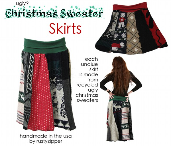 Ugly Christmas Sweater Skirts