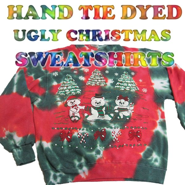 Tie Dyed Ugly Christmas Sweaters: Tie Dye Christmas Sweaters