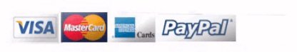 Visa, MasterCard, AmEx, Paypal Accepted