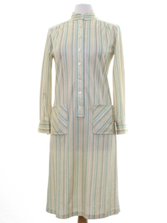 1970's Womens Knit House Dress