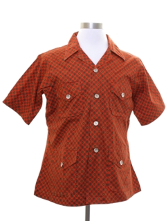 1980's Mens Safari Style Sport Shirt