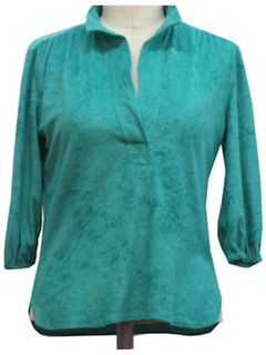 1980's Womens Terry Cloth Shirt