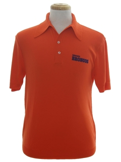 1970's Mens Football Denver Broncos Polo Shirt