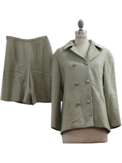 1960's Womens Blended Wool Jacket & Skorts