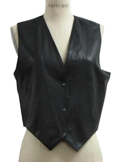 1970's Womens Leather Vest