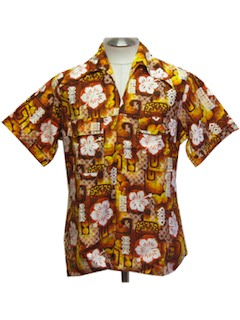 1970's Mens Hawaiian Shirt*