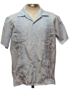 1980's Mens Guyabera Shirt