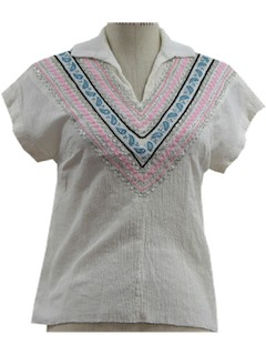 1960's Womens/Girls Square Dance Shirt