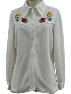 1970's Womens Western Style Hippie Shirt
