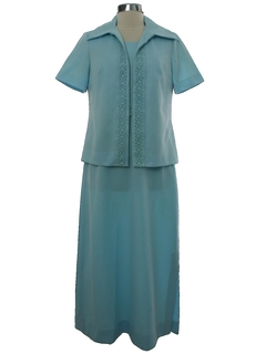 1970's Womens Party Maxi Dress
